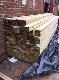 Timber/Wooden decking 120mm x 28mm fin x 4.8 Long