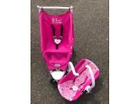 Baby Born Doll's Pushchair and Car Seat (Doll Pram Buggy Maxi-Cosi)
