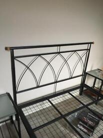 Double bed frame and bedside tables