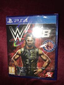 WWE 2k18 playstation 4 unopened !