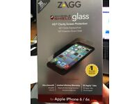 Zagg Phone Screen protector for Iphone 6 and 6S