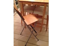 4 bar stools with backrest to sell, foldable