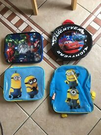 Selection of kids bags and lunch bags