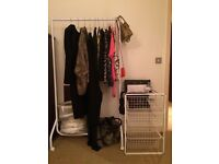 **Clothing rail and metal drawers for sale **