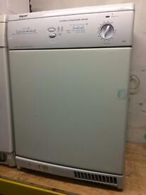 White Hotpoint condenser dryers good condition with guarantee