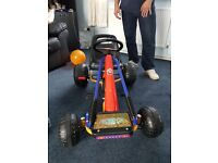 Pedal go kart with adjusible seat & hand break