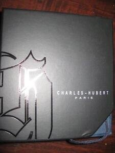 Charles Hubert, Paris Satin Finish Mechanical Pocket Classic Watch. 17 Jewel Hand wind movement. Stainless Steel. NEW