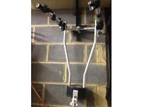 Tow bar rack for three cycles
