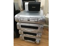 Technics sound system with built in dvd player