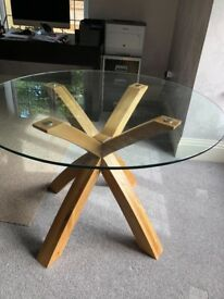Glass round Table bought from Next