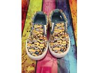 Lovely boys minion shoes New size 8