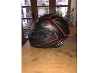 HJC IS-17 Polycarbonate helmet with internal sun visor Black/Red