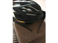 Boardman comp bike helmet yellow black