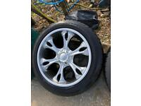 "Alloy wheels 20"" c/w tyres"