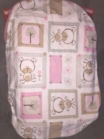 Poddle pod with pink cover 0-6months