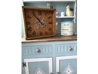 Wood clock steampunk theme
