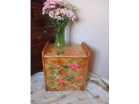 Shabby Chic upcycled humming bird/floral blanket box