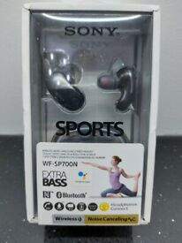 Sony WF-SP700N EXTRA BASS Wireless Noise Cancelling Headphones for Sports
