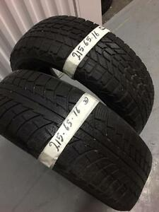 2 winter tires:215/65R16