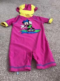 Baby swimming costume 9-12 months Disney Minnie Mouse