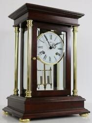 CRYSTAL REGULATOR MANTEL CLOCK by HOWARD MILLER very smart looking chiming clock