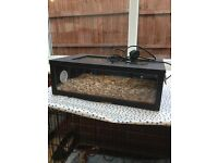 """18"""" terrarium for gecko or snake hatchling with heat mat"""