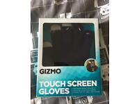 Navy Blue touch screen gloves