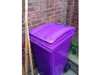 Purple 240 litre wheelie bin £20 ONO