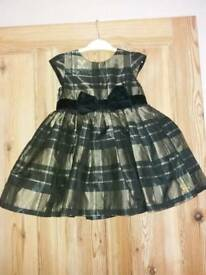Girls Baby K 18-24 months Black and Gold dress