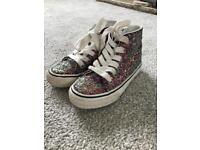 Next glitter high top trainers size 10