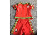 Childrens Welsh Football Kit