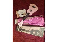 Pink ukulele.