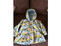 Next lemon print rain coat 2/3yrs