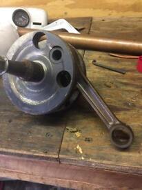 BSA C11G crank was rebuilt