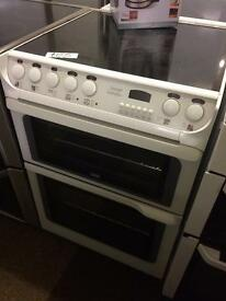 CREDA 60CM FAN ASSISTED DOUBLE OVEN ELECTRIC COOKER1111