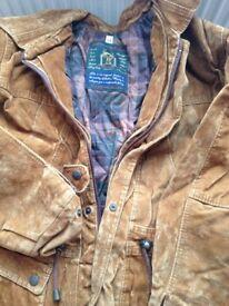 New suede golden colour size 54 jacket