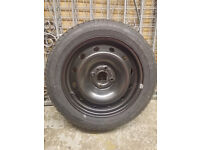 renault clio spare wheel and tyre