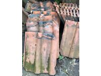 55 Clay double Roman roof tiles SOLD