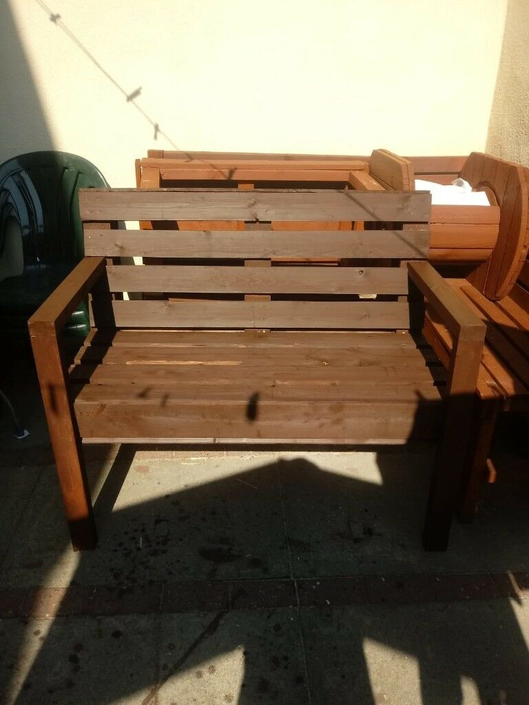 Handmade wooden garden benches | in Stoneycroft, Merseyside | Gumtree