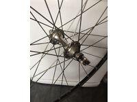 700c racing / touring bike front wheel ambrosio ryde 32h rim brake good contion