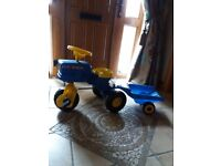 New holland pedal tractor & trailer