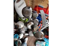 Golf trolley clubs and bag