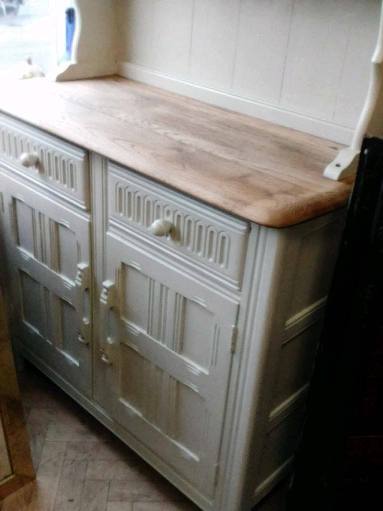 Solid wood painted dresser