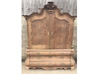 Antique French Armoire/Linen Press