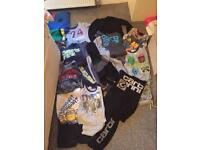 Job lot boys clothes, towels and blanket 7-8 to 9-10