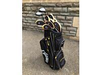 Callaway golf bag and maxfli clubs
