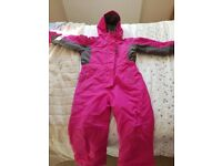 3-4 years pink snow suit
