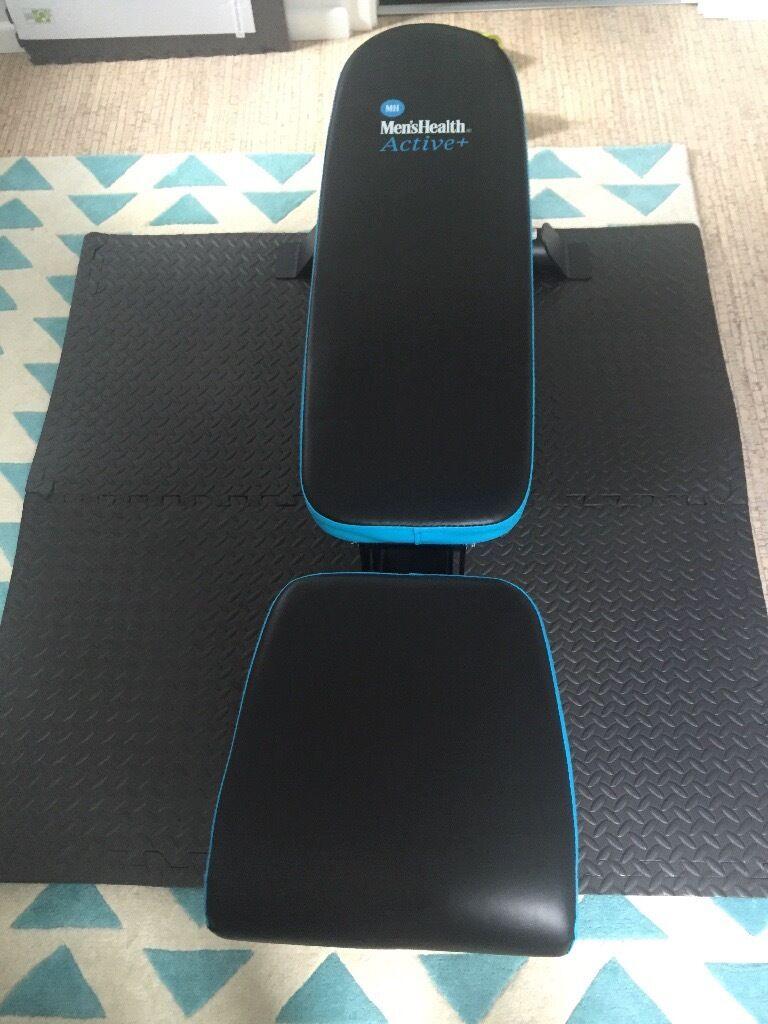 New Men S Health Adjustable Weight Bench Argos In