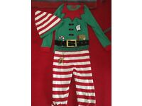 Christmas elf pyjamas