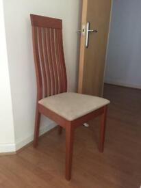 Set of four Calligaris Chicago dining chairs